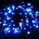 100 LED Light Solar String Lamp Festival Deco Blue