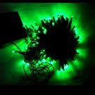 100 LED Light Solar String Lamp Festival Deco Green