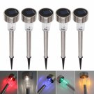 10Pcs/Set Fashion Outdoor Stainless Steel Colorful Light Solar Power Garden Lamp
