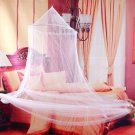 White Jumbo Dome Elegant Lace Bed Netting Canopy Mosquito Net