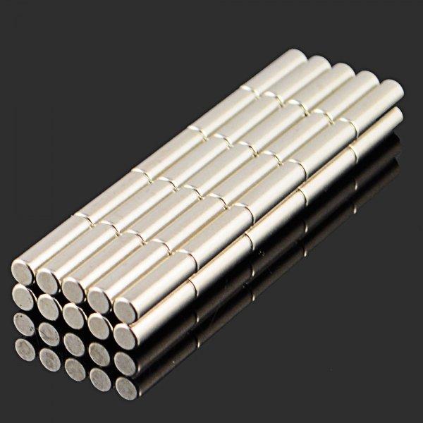 50pcs Round NdFeB Neodymium Magnet DIY Puzzle Set 3 x 10mm Silver