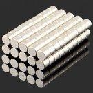 100pcs Round NdFeB Neodymium Magnet DIY Puzzle Set 5 x 4mm Silver