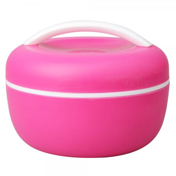 Small Apple Shape Two-layer Lunch Box Rose Red