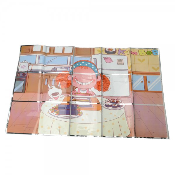 1003 Kitchen High-end Learn to Cook Pattern PVC + Paper Wall Sticker Colorful