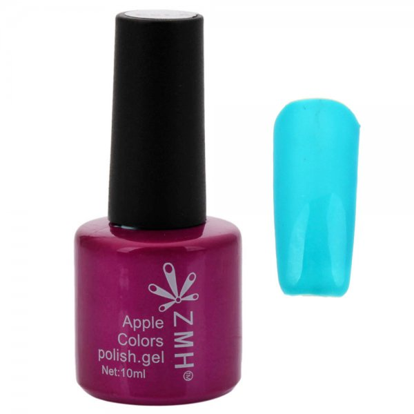 8mL 3-in-1 Quick Drying Long-lasting UV Gel Nail Polish Candy Blue