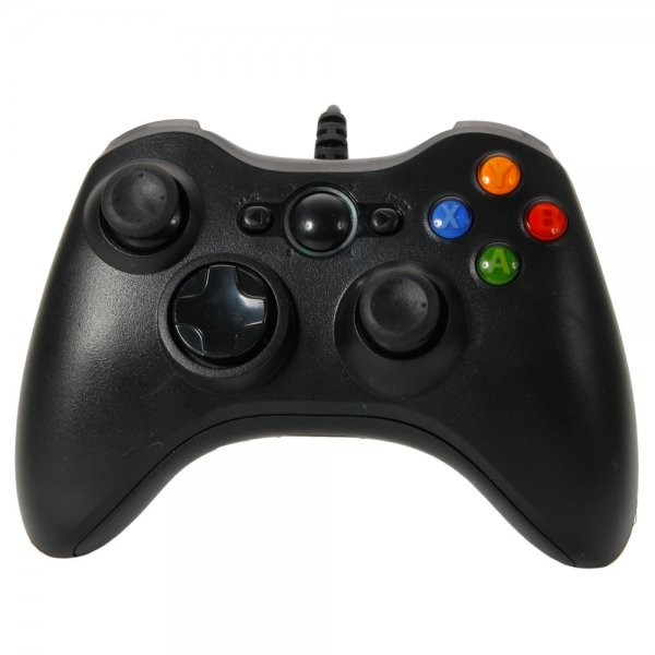 USB Wired Controller for Xbox 360 & Windows PC Black