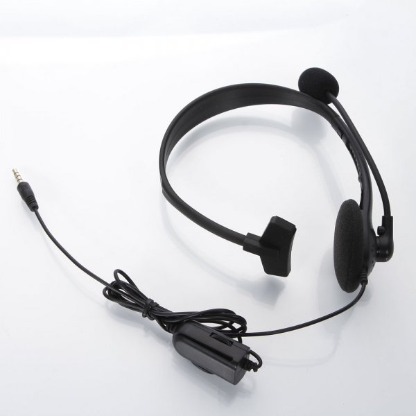 Monolateral Handsfree Headset with Mic for PS4 Black