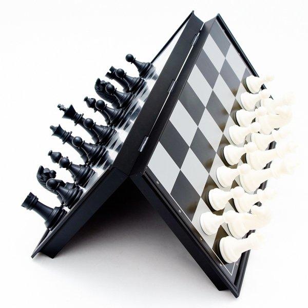 Portable Magnetic Folding Plastic International Chess Set Size S