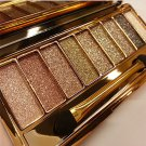 Fashion 9 Colors Shimmer Eyeshadow Eye Shadow Palette Makeup Cosmetic Brush Set