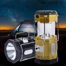 Multi-function Retractable Solar Power Lantern Camping Lihgt with Flashlight