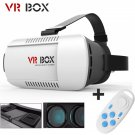 VR BOX Headset Virtual Reality 3D Glasses with Remote Control for Cellphone Sized 4.7-6 inch