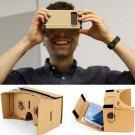 "DIY Cardboard Magnetic Sensor Virtual Reality VR Glasses for 4-7"" Smartphone Khaki"