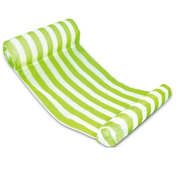 Swimming Floating Bed Water Hammock Water Recreation Green & White