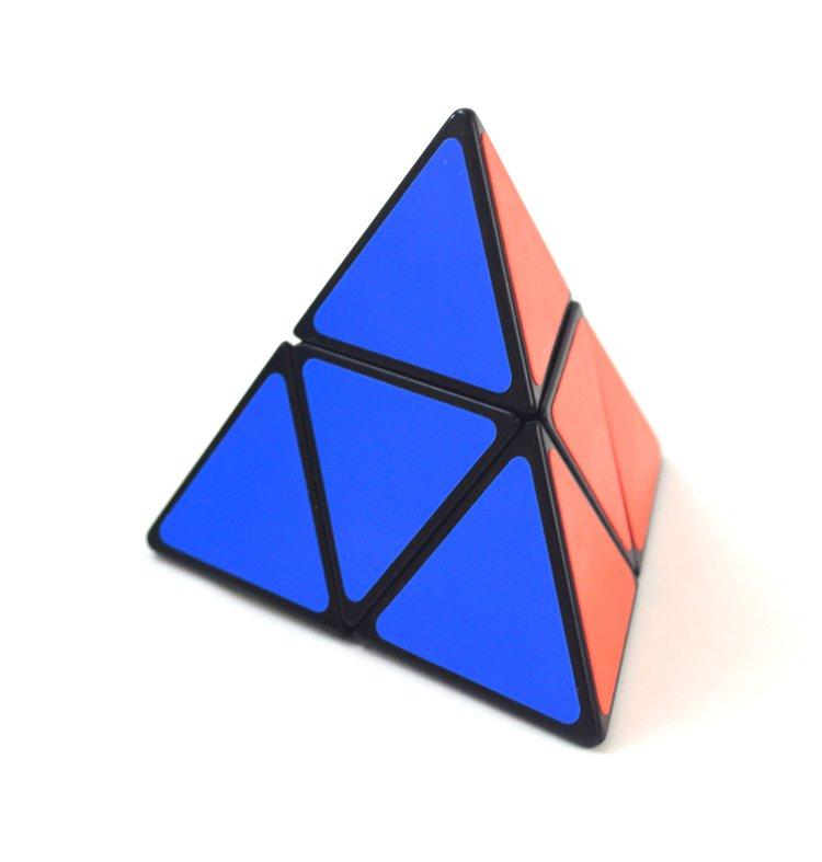 2x2x2 Pocket Rubik's Cube Triangle Magic Pyramid Speed Cube Pyraminx Twist Puzzle Rubik