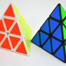 2pcs Triangle Magic Pyramid Speed Cube Pyraminx Twist Puzzle Rubik Intelligence Toy