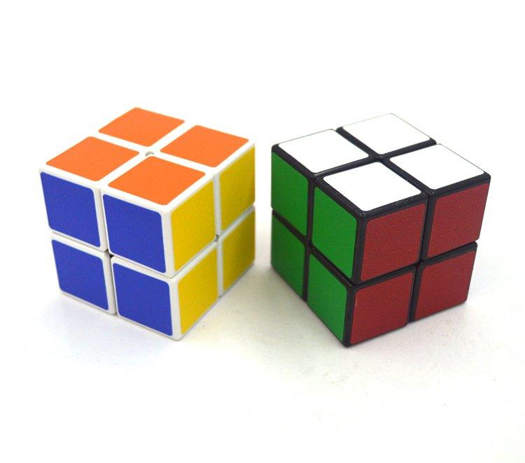 2pcs Pocket Rubik's Cube Magic Speed Cube Twist Puzzle Rubik Intelligence Toy