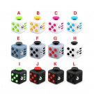 New 12pcs/set Fidget Cube Relieves Stress Anxiety Attention Toy