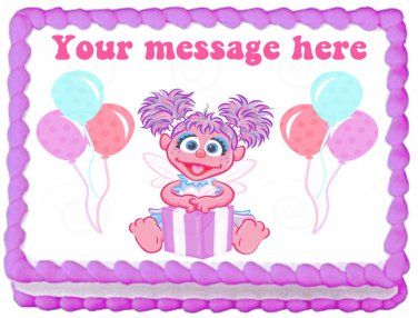 Edible Abby Cadabby image cake topper 1/4 sheet (10.5 x 8 inches)