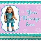 Edible American Girl MCKENNA image cake topper 1/4 sheet (10.5 x 8 inches)