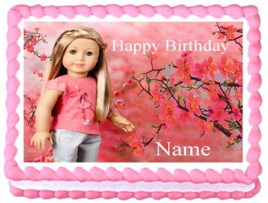 Edible American Girl ISABELLE image cake topper 1/4 sheet (10.5 x 8 inches)