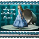Edible ALICE IN WONDERLAND image cake topper 1/4 sheet (10.5 x 8 inches)