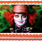 Edible ALICE IN WONDERLAND Mad Hater image cake topper 1/4 sheet (10.5 x 8 inches)