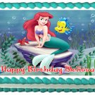 "Edible HE LITTLE MERMAID image cake topper 1/4 sheet (10.5"" x 8"")"
