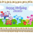 """Edible BLUES CLUES and MAGENTA image cake topper 1/4 sheet (10.5"""" x 8"""")"""