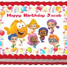 "Edible BUBBLE GUPPIES Party image cake topper 1/4 sheet (10.5"" x 8"")"