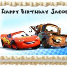 "Edible CARS McQueen and Mater image cake topper 1/4 sheet (10.5"" x 8"")"