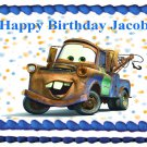 "Edible CARS Mater image cake topper 1/4 sheet (10.5"" x 8"")"