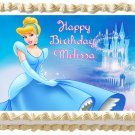 "Edible CINDERELLA image cake topper 1/4 sheet (10.5"" x 8"")"