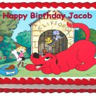 "Edible CLIFFORD image cake topper 1/4 sheet (10.5"" x 8"")"