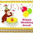 """Edible CURIOUS GEORGE image cake topper 1/4 sheet (10.5"""" x 8"""")"""