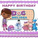 "Edible DOC MCSTUFFINS image cake topper 1/4 sheet (10.5"" x 8"")"