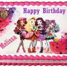 "Edible EVER AFTER HIGH image cake topper 1/4 sheet (10.5"" x 8"")"