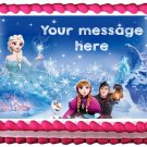 "Edible FROZEN ELSA AND ANNA image cake topper 1/4 sheet (10.5"" x 8"")"