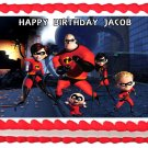 "Edible THE INCREDIBLES image cake topper 1/4 sheet (10.5"" x 8"")"