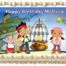 "Edible JAKE AND THE NEVERLAND PIRATES image cake topper 1/4 sheet (10.5"" x 8"")"