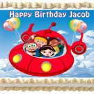 "Edible LITTLE EINSTEINS image cake topper 1/4 sheet (10.5"" x 8"")"
