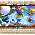 "Edible MARIO BROS image cake topper 1/4 sheet (10.5"" x 8"")"