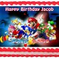 "Edible MARIO bros and SONIC image cake topper 1/4 sheet (10.5"" x 8"")"