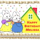 "Edible MAX AND RUBY image cake topper 1/4 sheet (10.5"" x 8"")"