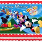 "Edible MICKEY MOUSE CLUB HOUSE Slide image cake topper 1/4 sheet (10.5"" x 8"")"