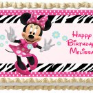 "Edible MINNIE MOUSE image cake topper 1/4 sheet (10.5"" x 8"")"
