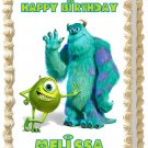 "Edible MONSTER INC Sulley and Mike image cake topper 1/4 sheet (10.5"" x 8"")"