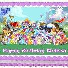 "Edible MY LITTLE PONY Edible image cake topper 1/4 sheet (10.5"" x 8"")"