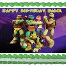 "Edible TEENAGE MUTANT NINJA TURTLES image cake topper 1/4 sheet (10.5"" x 8"")"
