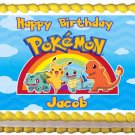 "Edible POKEMON image cake topper 1/4 sheet (10.5"" x 8"")"