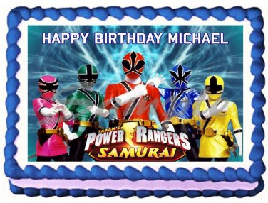 "Edible POWER RANGERS image cake topper 1/4 sheet (10.5"" x 8"")"